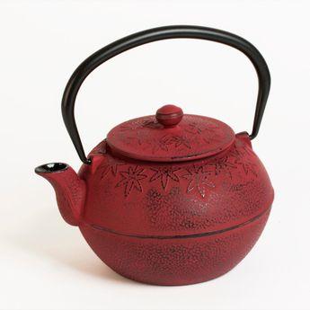 Achat en ligne Théière en fonte zen 1.2 L rouge - Bastide Diffusion