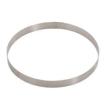 Achat en ligne Cercle à tarte en inox perforé 24.5 x 2 cm - De Buyer