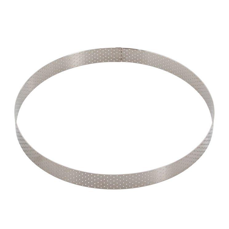 Cercle à tarte en inox perforé 24.5 x 2 cm - De Buyer