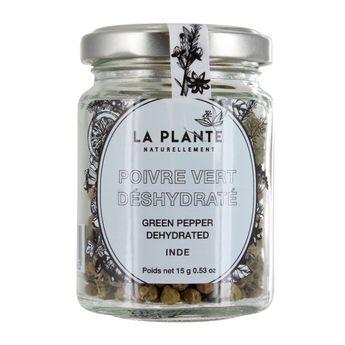 Poivre vert deshydraté BIO 15g - La Plante