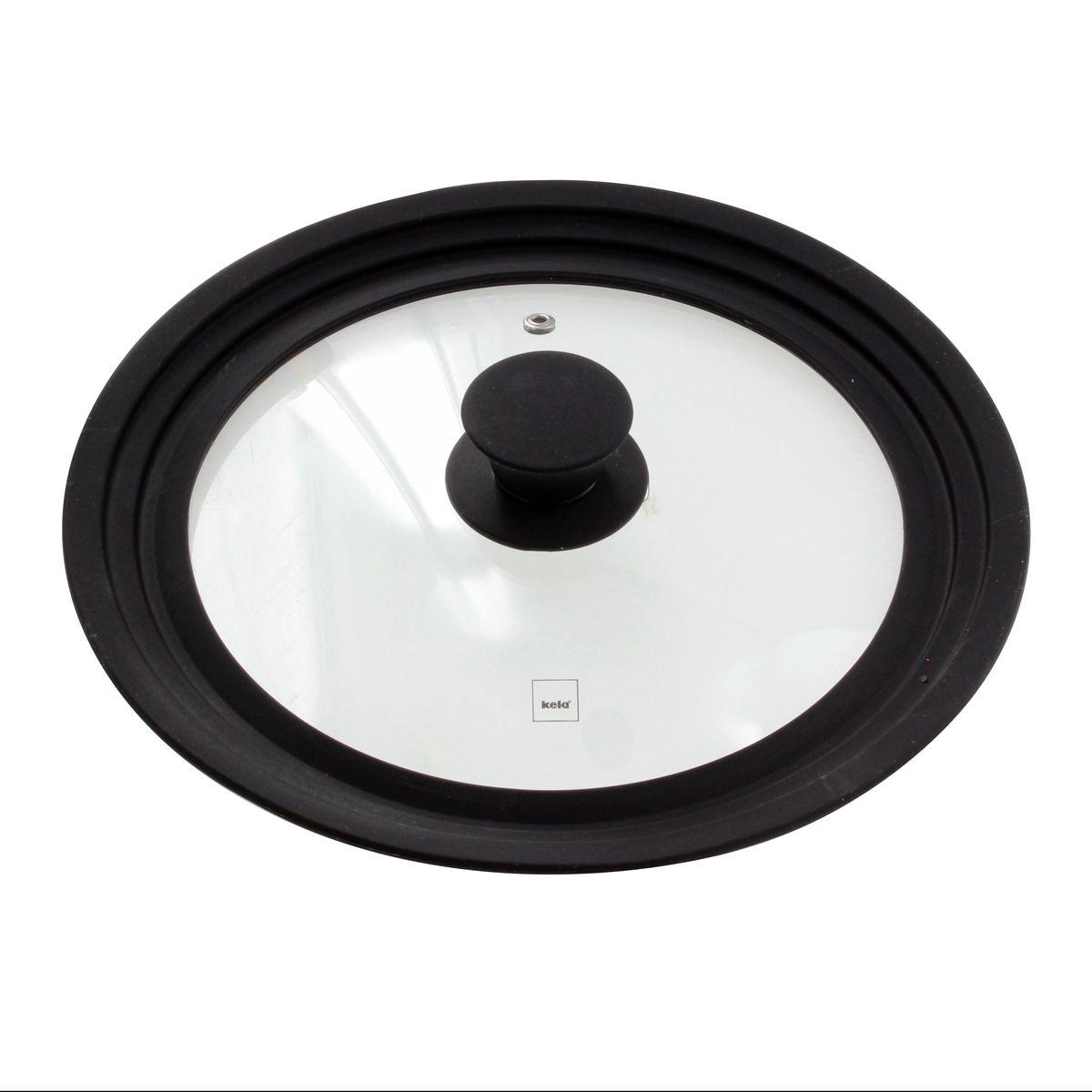 Couvercle en verre et silicone multi-diamètres de 22 à 26 cm - Kela