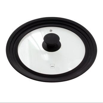 Achat en ligne Couvercle en verre et silicone multi-diamètres de 22 à 26 cm - Kela