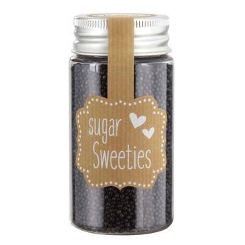 Petites perles en sucre noires - Birkmann