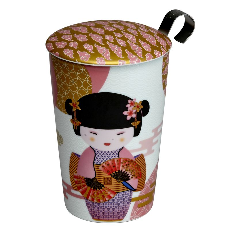 Tisanière porcelaine Little Geisha Rose 350ml - Teaeve