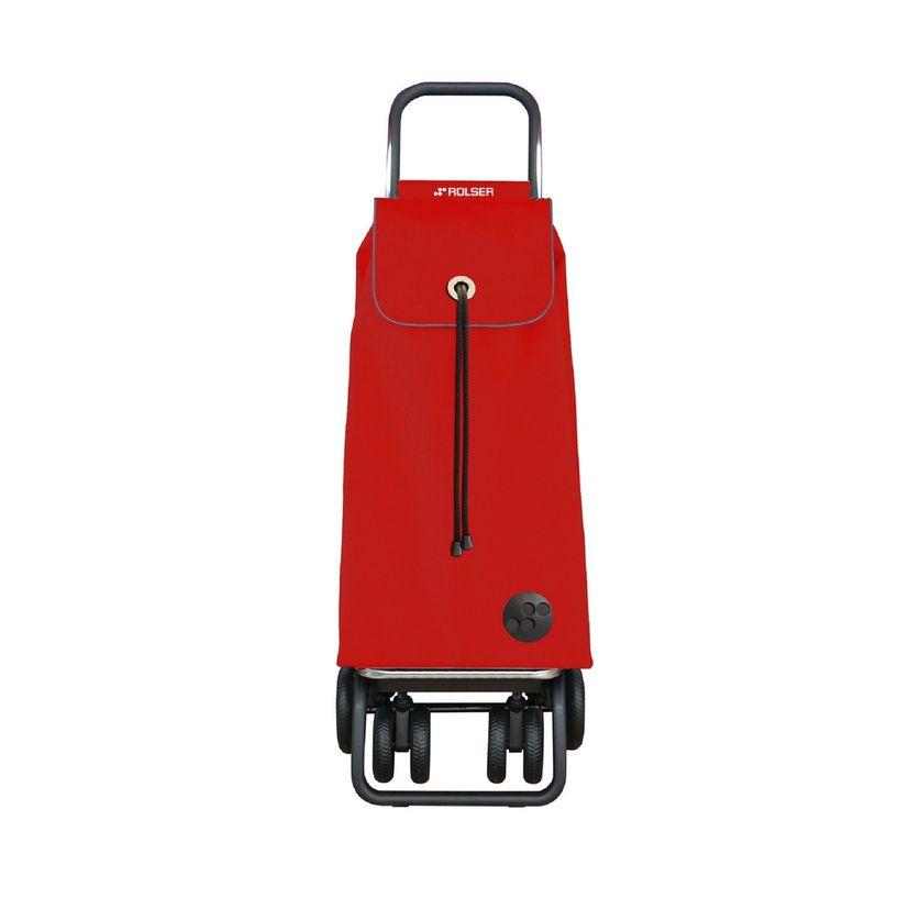 Chariot de course pliable direction facile 2 roues pivotantes rouge - Rolser
