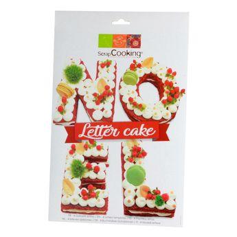 Achat en ligne 4 gabarits pour letter cake Noël - Scrapcooking