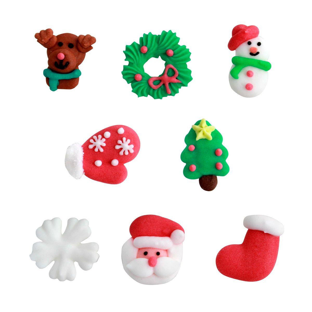 Plaque 8 décors comestibles Noël traditionnel - Alice Délice