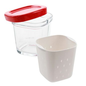 6 pots de yaourts 140 ml pour yaourtière multi délices - Seb