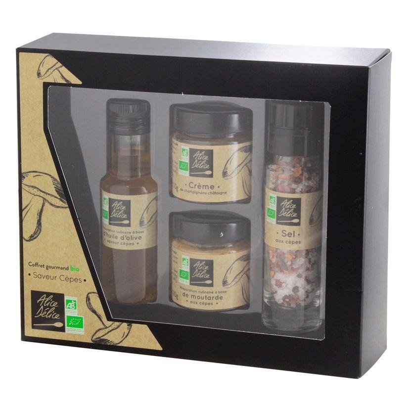 Coffret gourmand Bio saveur cêpes - Alice Délice