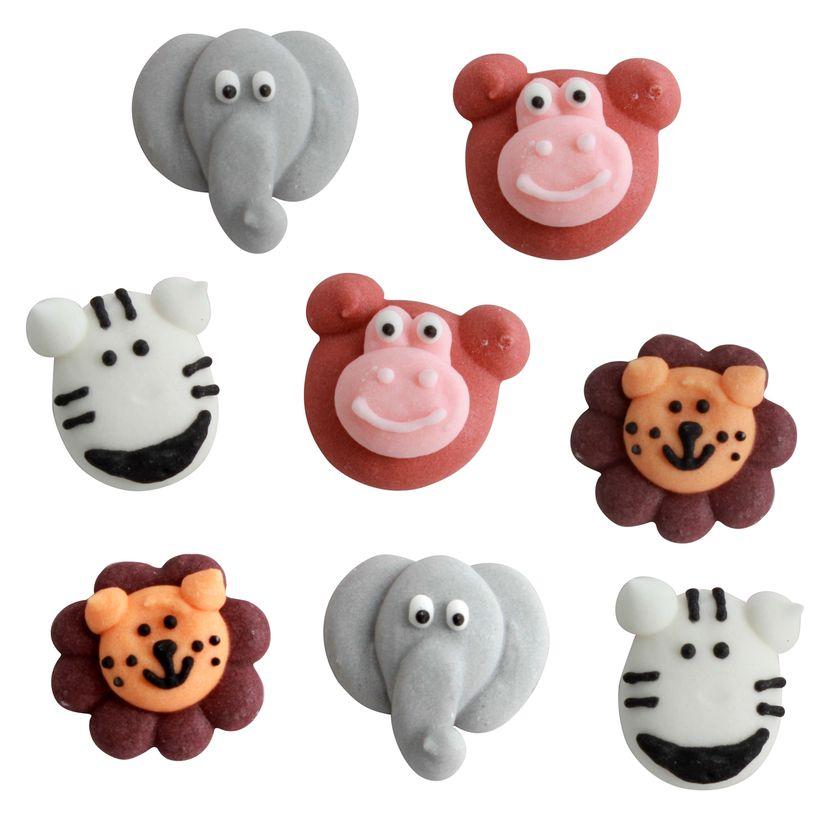 Plaque 8 décors en sucre animaux
