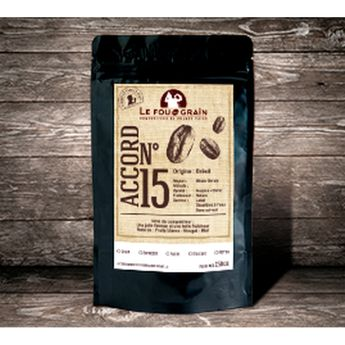 Café décafeiné grains Colombie Accord n°15 250gr - Le Fou du Grain