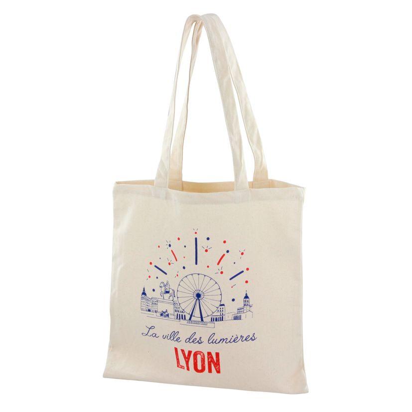 Totebag Lyon ville lumières 100% coton - Tissage de L´Ouest