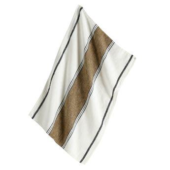 Achat en ligne Torchon Lecci 46x70 bronze 100% lin - Harmony