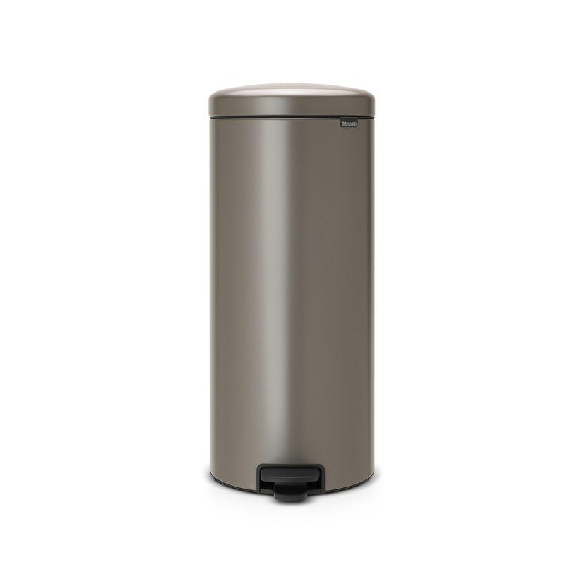 Poubelle à pédale New Icon grise 30L 29.3 x 38 x 67.9 cm - Brabantia
