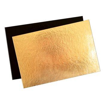 Achat en ligne 5 supports à gâteaux rectangulaires dorés et noirs  20 x 30 cm - Scrapcooking