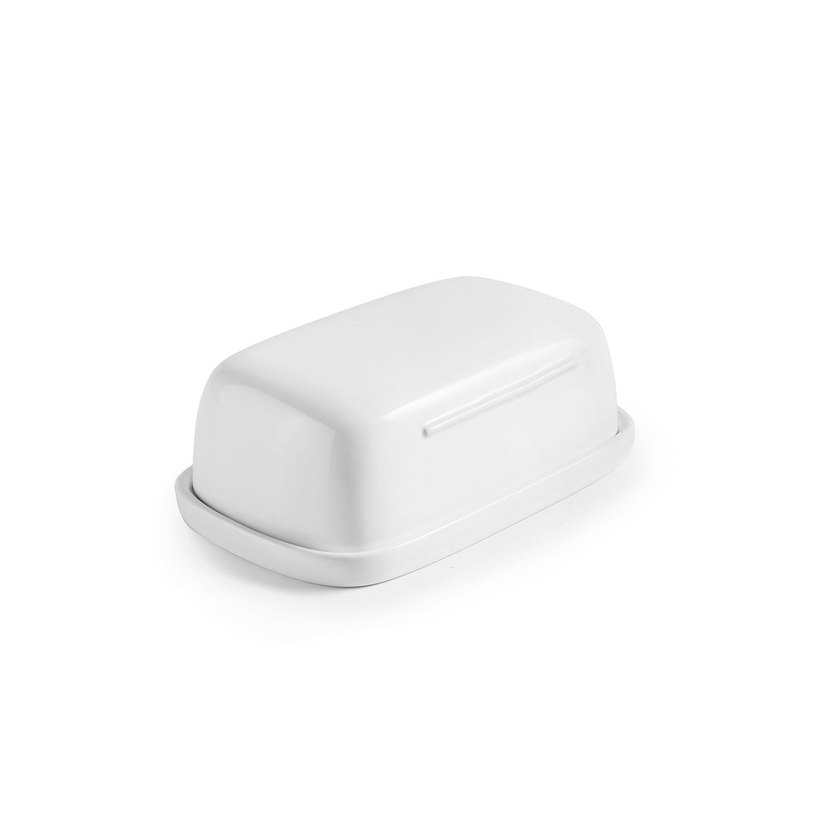 Beurrier en céramique blanc 6 x 10 x 16 cm - Ibili
