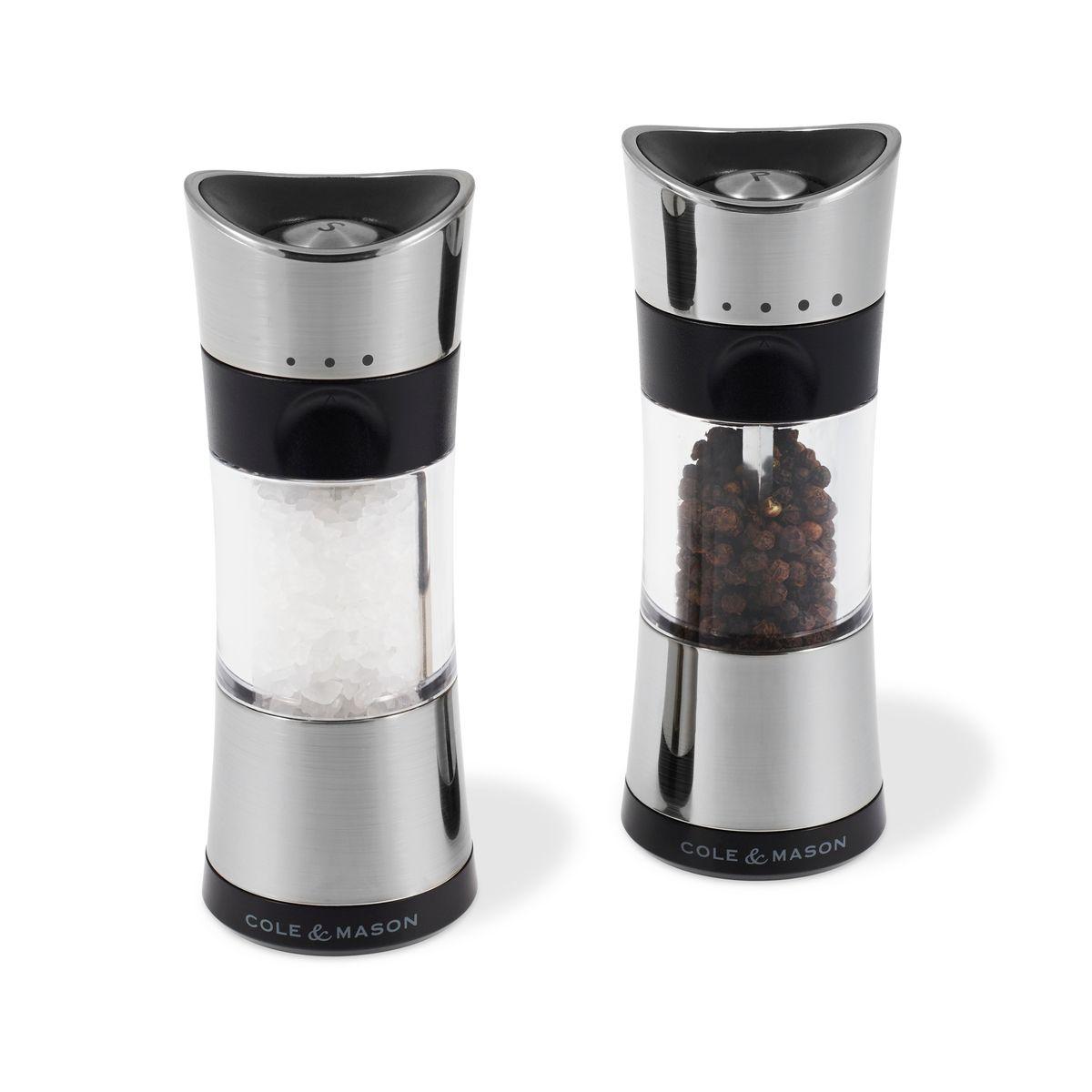 Coffret moulins sel et poivre Horsham chrome 154 mm - Cole and Mason