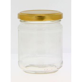 Achat en ligne Bocal de conservation en verre avec couvercle doré 200 ml - Cerve