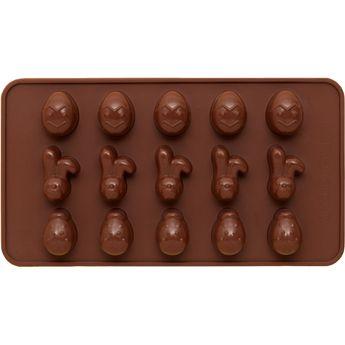 Achat en ligne Moule en silicone petits oeufs et lapins de Pâques 15 x 21 cm  - Birkmann