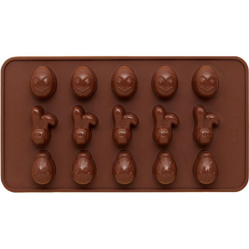 Moule en silicone petits oeufs et lapins de Pâques 15 x 21 cm  - Birkmann