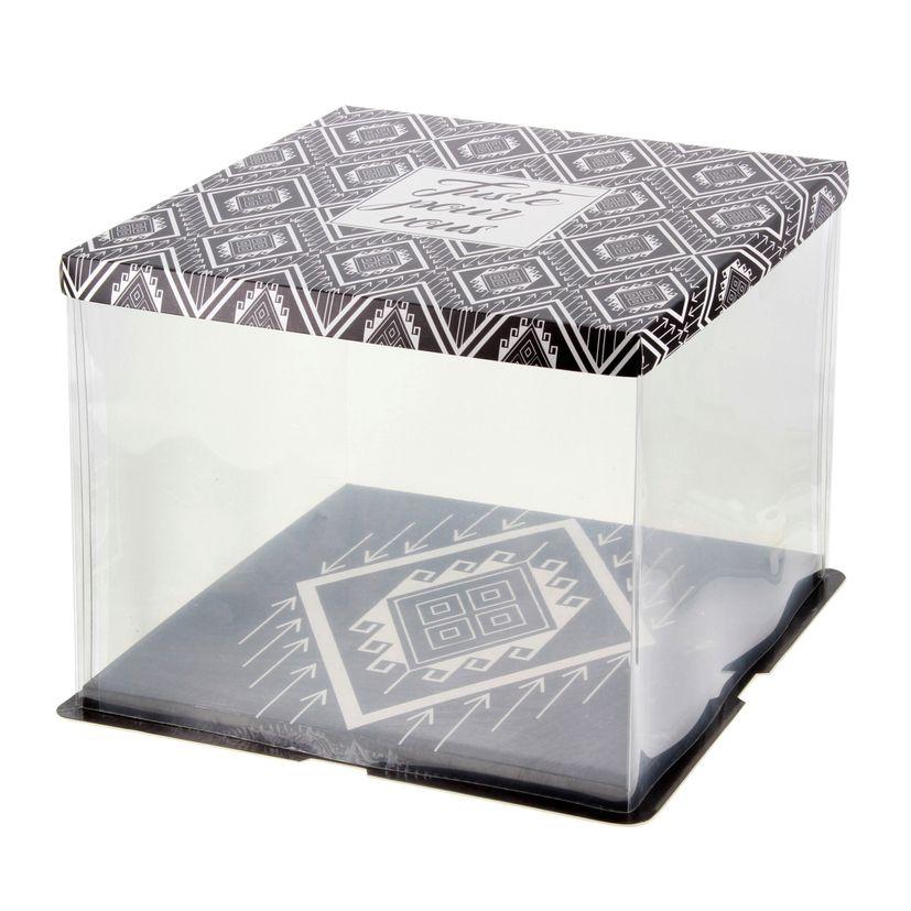 Boîte à gâteaux vitrine 31 x 31 x 26 cm - Patisdecor