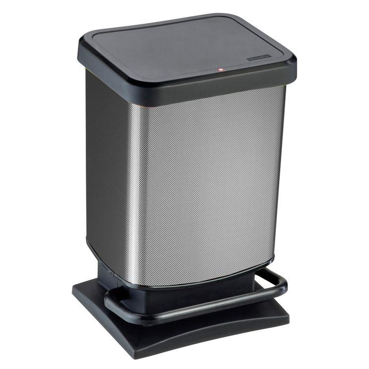 Poubelle Paso gris carbone 20 l - Rotho