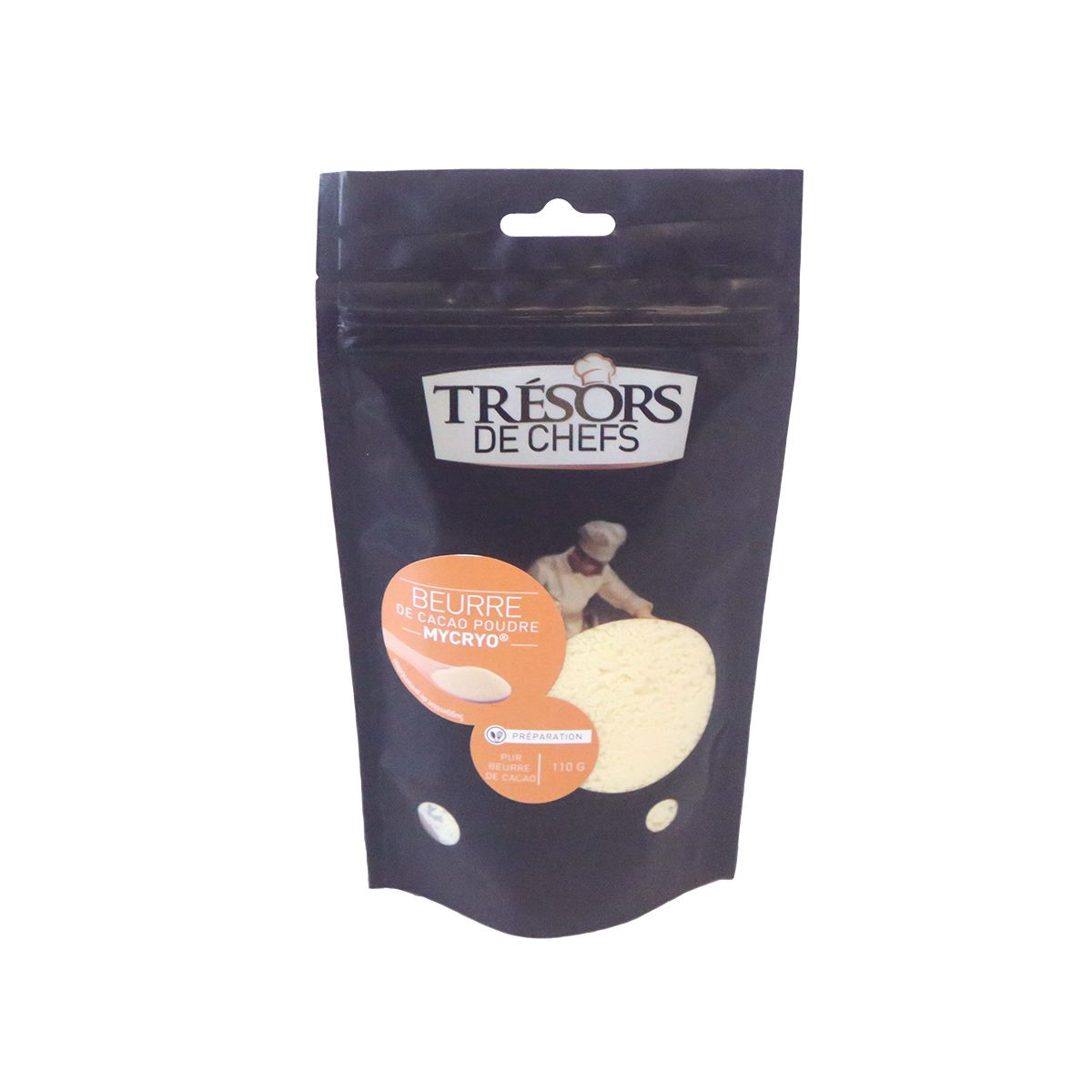 Beurre de cacao mycryo 110 gr - Trésors de chefs