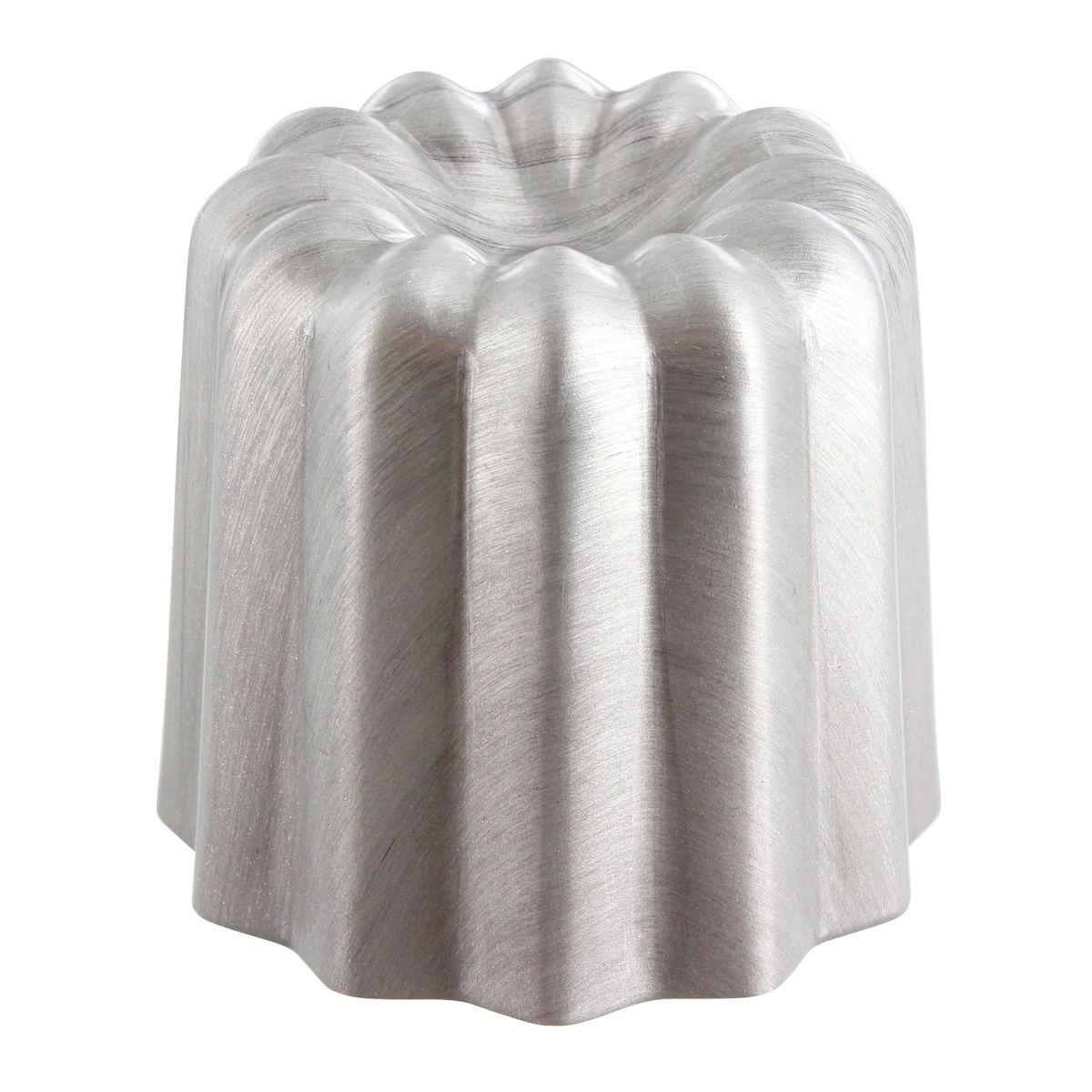 Moule à cannelé en aluminium revêtu anti adhérent 5 x 5.5 cm - Gobel