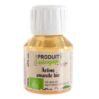 Achat en ligne Arôme alimentaire bio amande 58 ml - Trésors de Chefs
