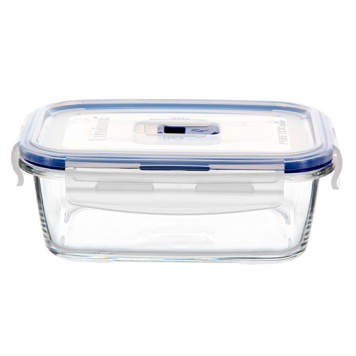 Boite hermétique Pure Box rectangulaire en verre 82 cl 6.7 x 13.5 x 18.2 cm - Luminarc