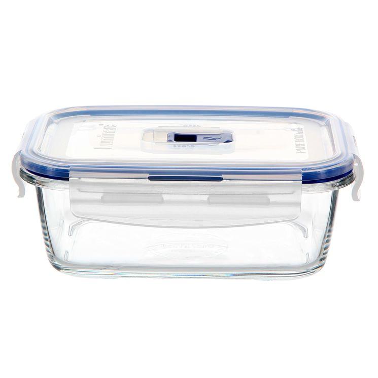 Boite hermétique Pure Box rectangulaire en verre 82cl 6.7x13.5x18.2cm - Luminarc