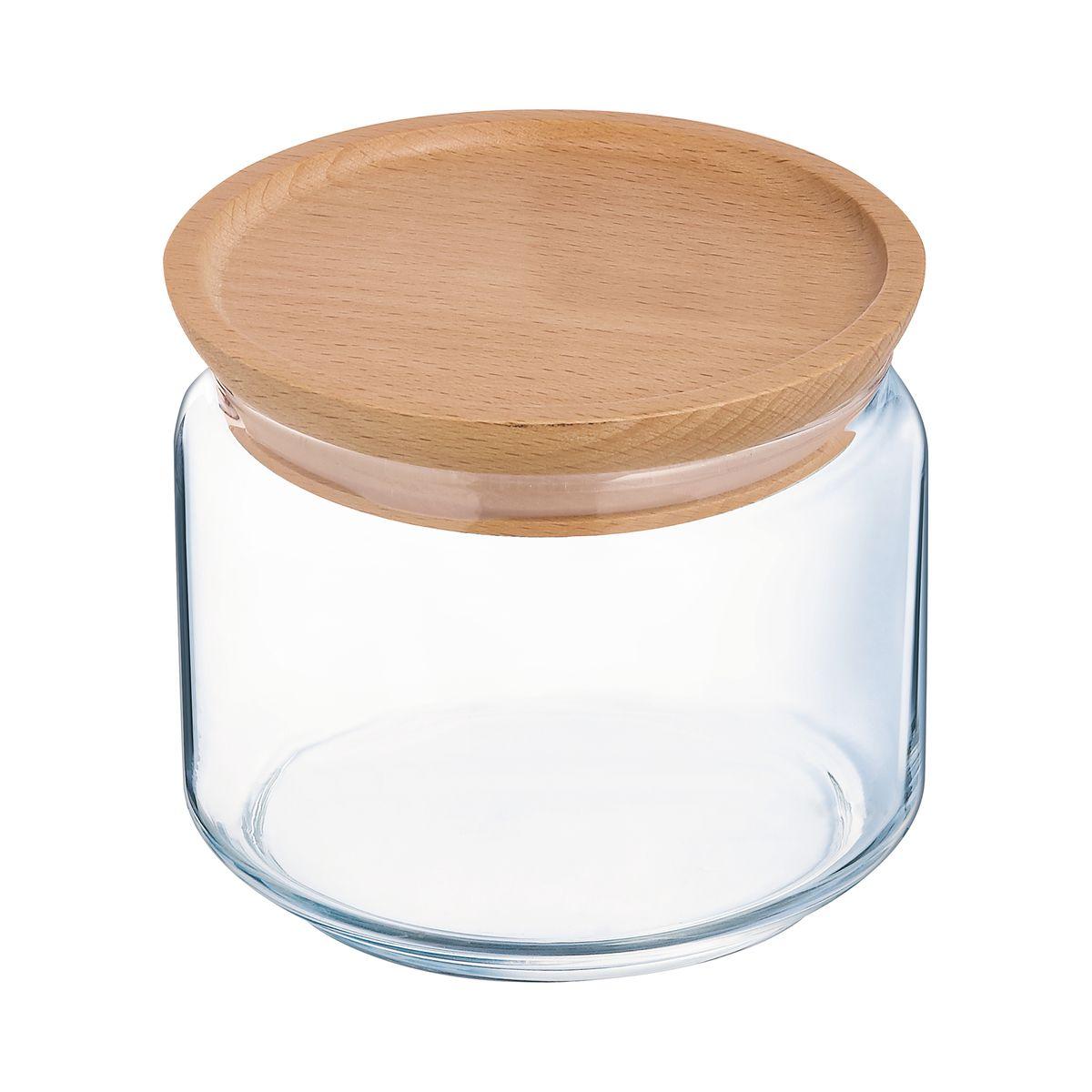 Boîte de conservation en verre avec couvercle en bois Box Mania 0.5L - Luminarc