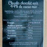 Pépites chunks chocolat noir 250 gr - Trésors de Chefs
