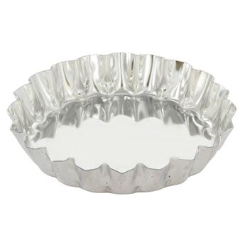 Achat en ligne Moule à tartelette ronde cannelée en fer blanc 10 cm hauteur 1.8 cm - Gobel