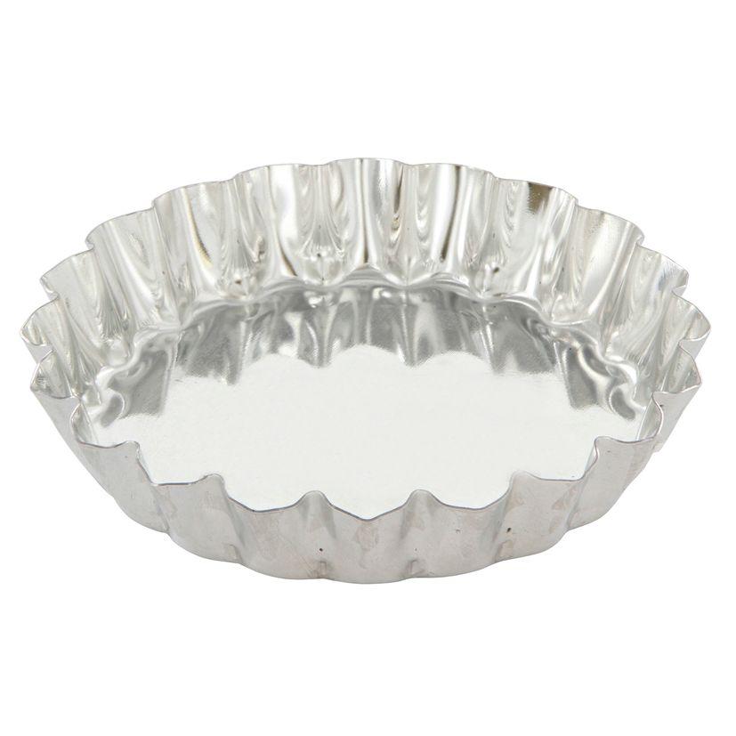 Moule à tartelette ronde cannelée en fer blanc 10 cm hauteur 1.8 cm - Gobel