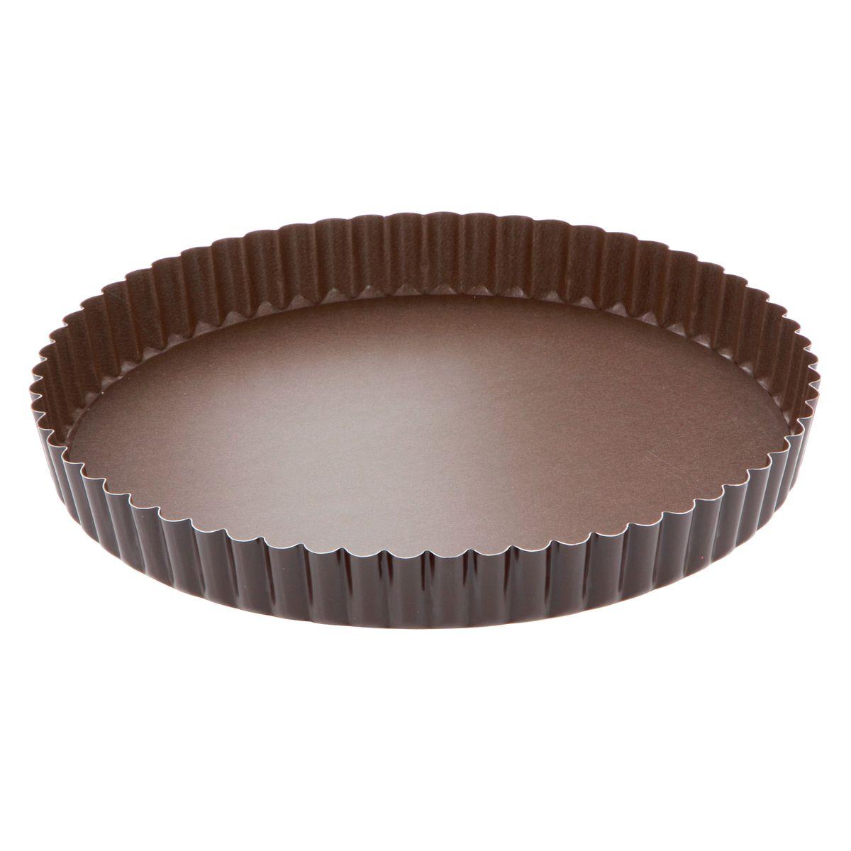 Moule à tarte en métal anti adhérent avec fond amovible 6/8 parts 24 cm - Alice Délice
