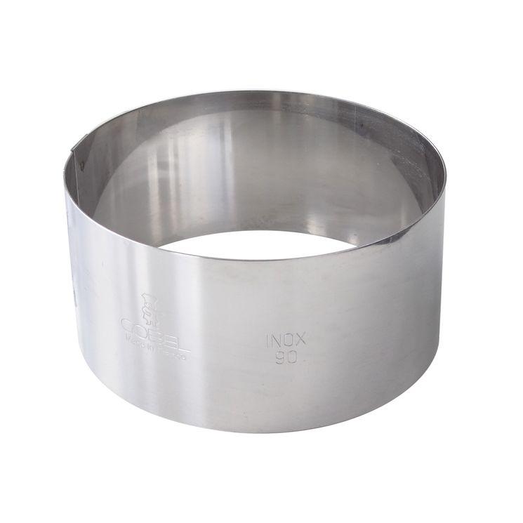 Cercle à mousse et entremets en inox 4.5 x 20 cm - Gobel