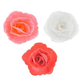 Achat en ligne 36 roses en azyme roses. rouges et blanches 4.5 cm - Dekora