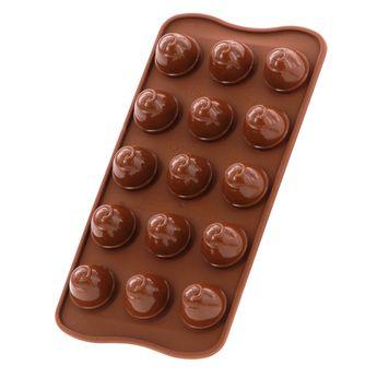 Moule à chocolats 3D en silicone choco spiral - Silikomart