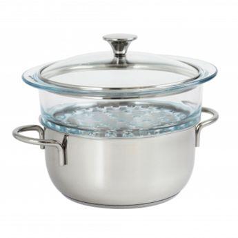 Achat en ligne Set cuiseur vapeur inox  Master 24cm - Cristel