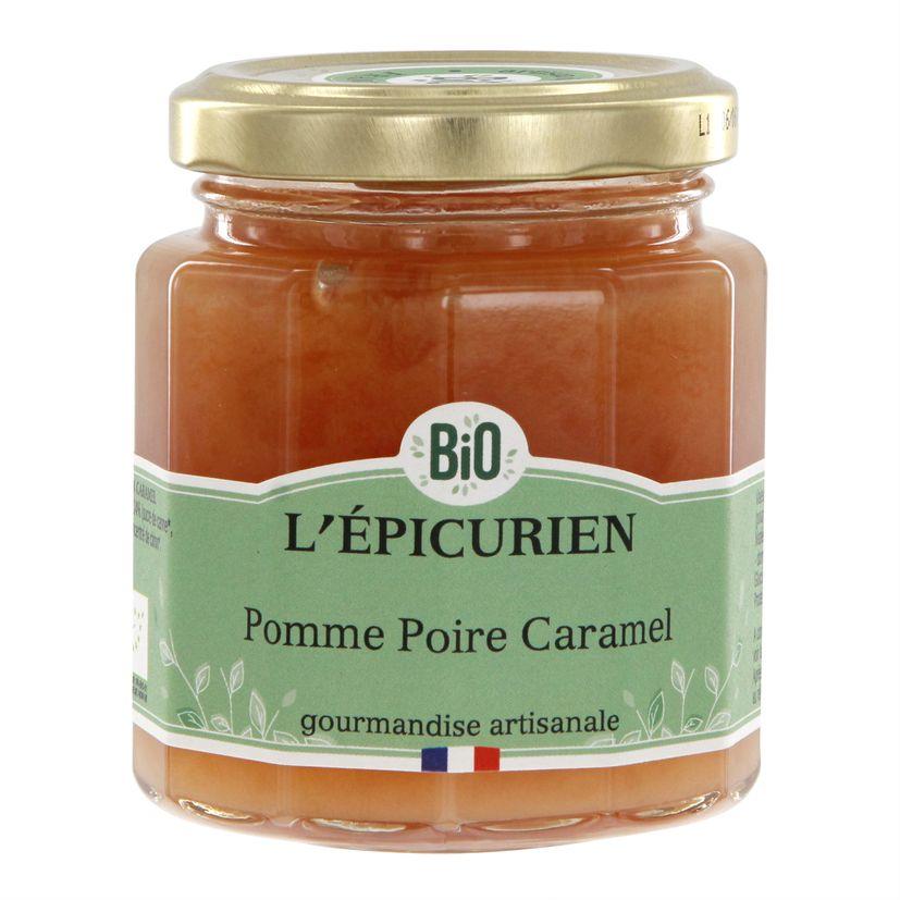 Confiture pomme poire caramel bio 210 g - L´Epicurien
