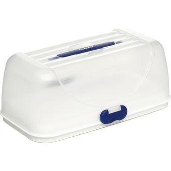 Achat en ligne Boite de transport à gâteau rectangulaire en plastique blanc et bleu Superline Party Box 20.5 x 28 x 35 cm - Emsa