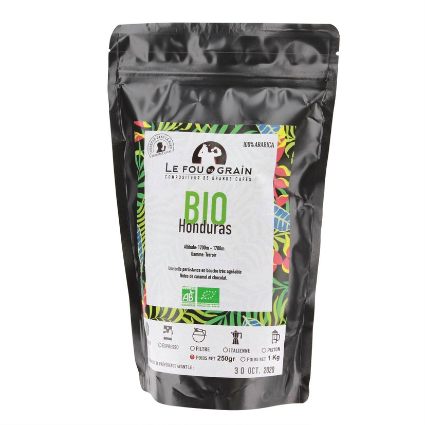 Café en grains 250gr Honduras bio - Le Fou du Grain