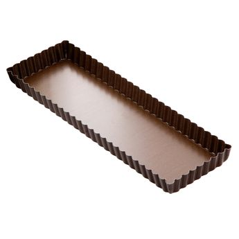 Achat en ligne Moule à tarte cannelé rectangulaire anti adhérent 11 x 35 cm hauteur 2.5 cm - Gobel
