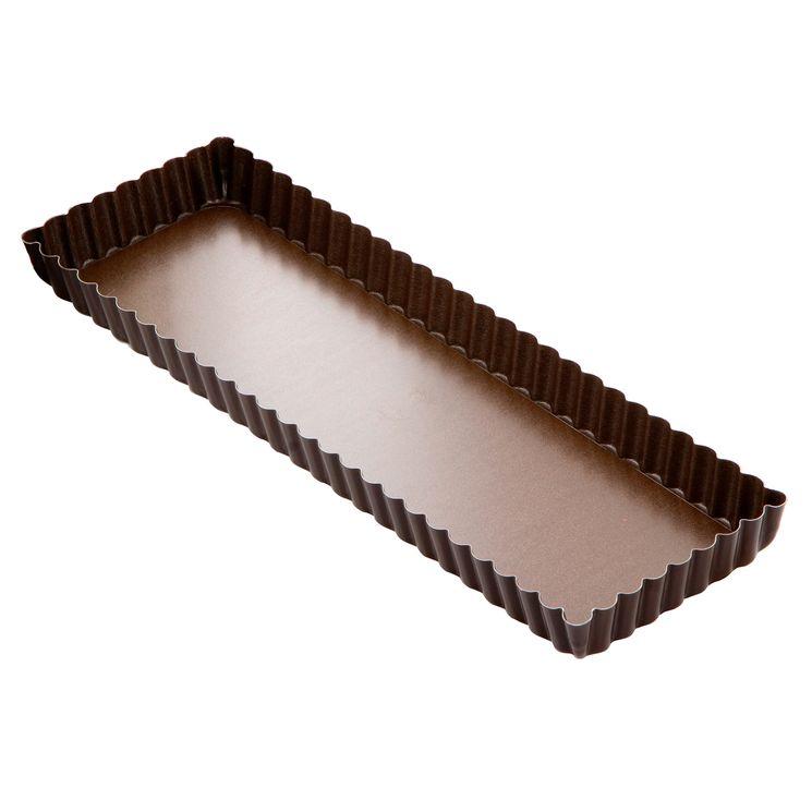 Moule à tarte cannelé rectangulaire anti adhérent 11 x 35 cm hauteur 2.5 cm - Gobel