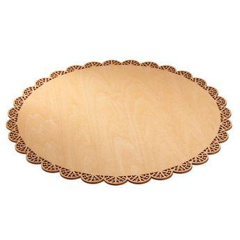 Achat en ligne Plat à gâteau rond en bois motif dentelles 29 cm - Scrapcooking