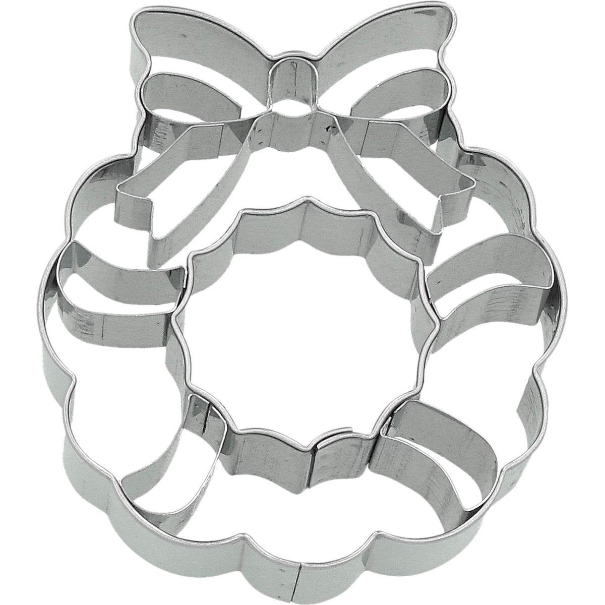 Emporte-pièce en inox couronne de Noël 7.5 cm - Birkmann