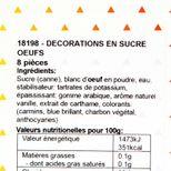 Oeufs à parsemer multicolore 100gr - Alice Délice