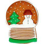 Emporte-pièce en inox boule à neige Noël 8 cm - Birkmann