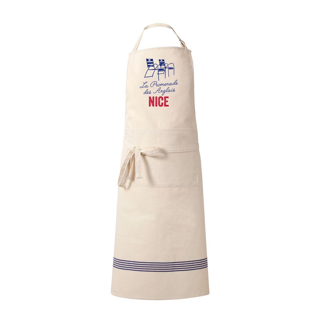 Tablier La promenade des anglais Nice 100% coton 80 x 100 cm - Tissage de l´ouest